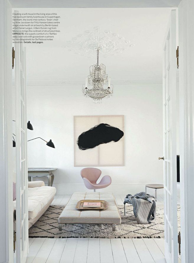 Soft Plush Textures Look So Relaxed And Beautiful With White Walls In The  Backdrop. Soft Pops Of Color In Artwork And Accessories Fill The Space With  ...