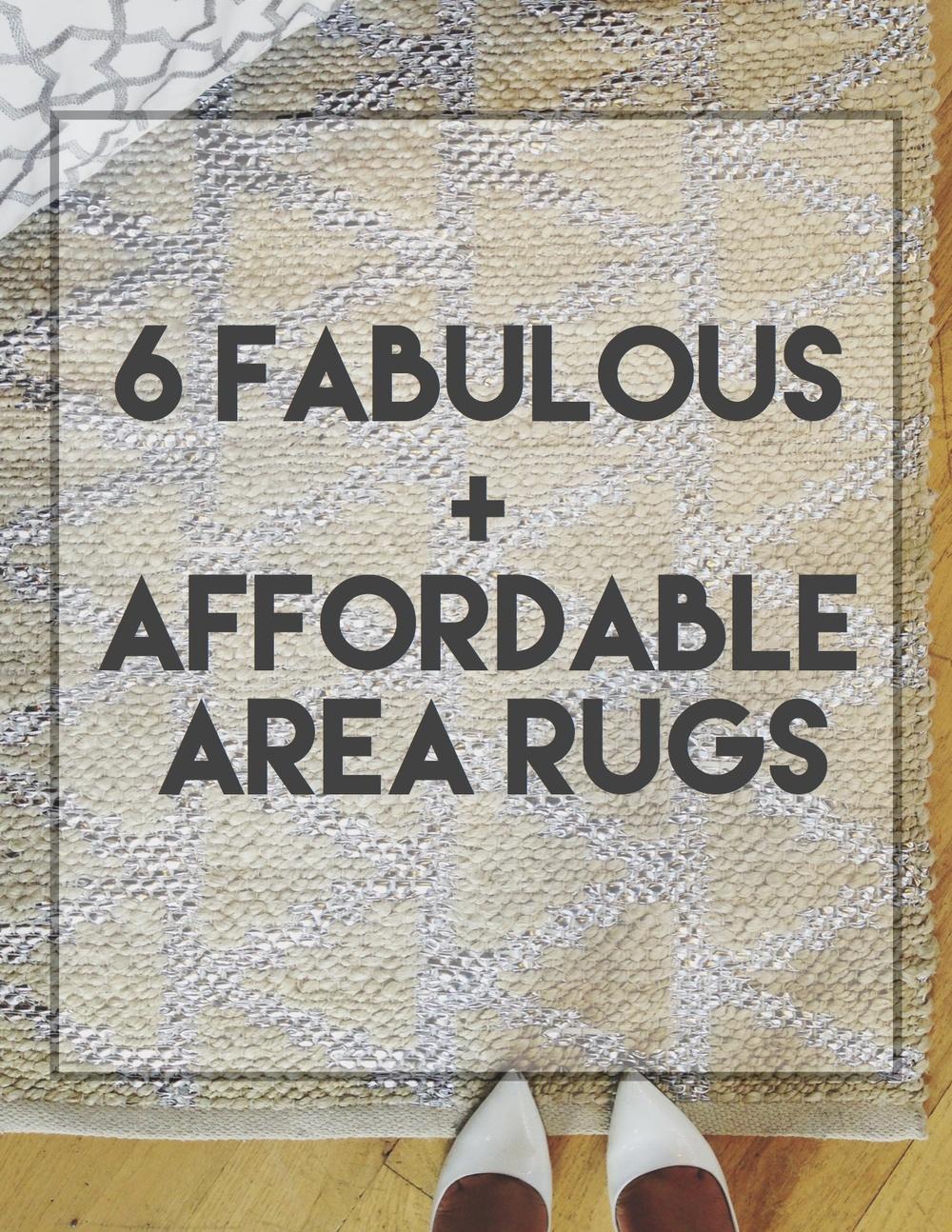 6 fabulous affordable area rugs The Decorista