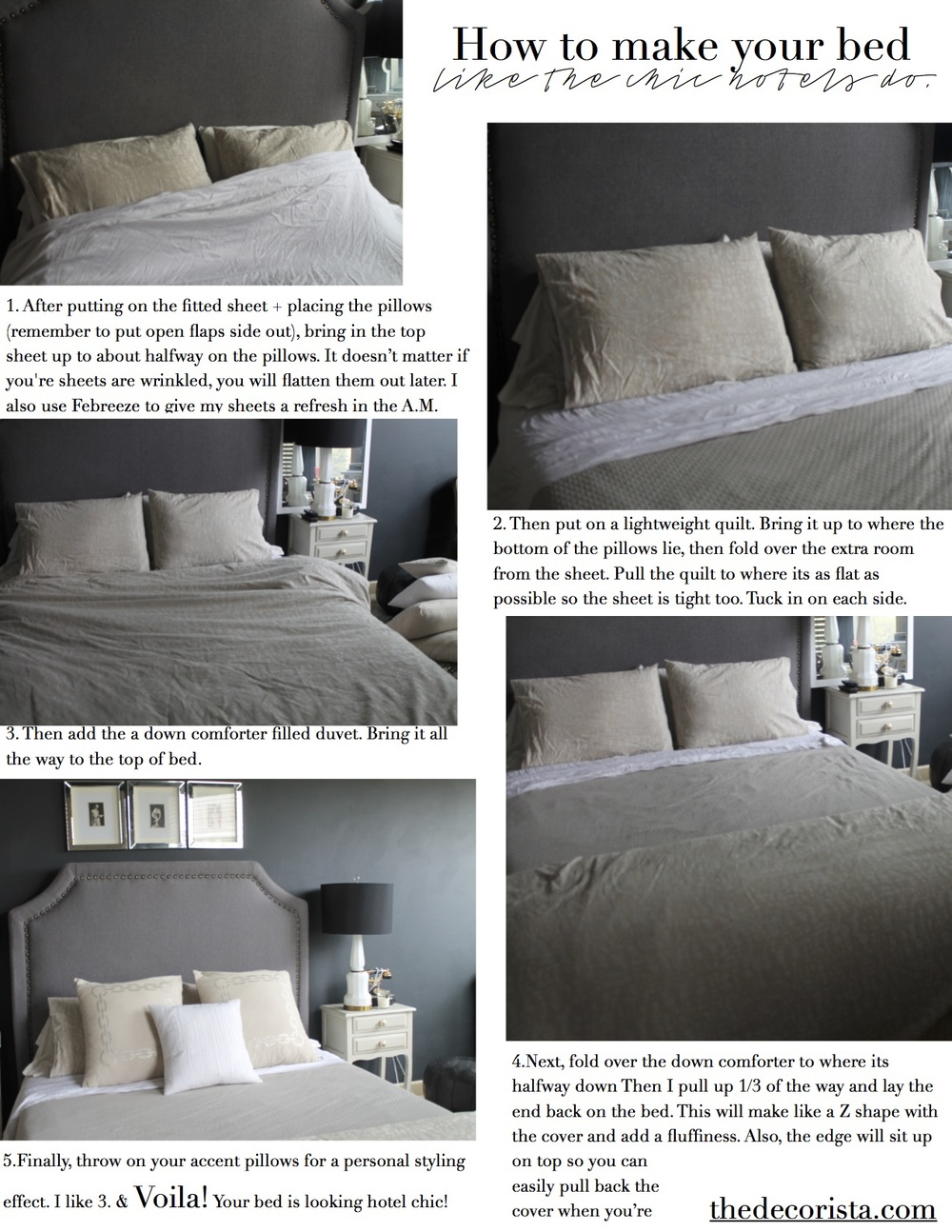 How to make your bed, the hotel way — The Decorista