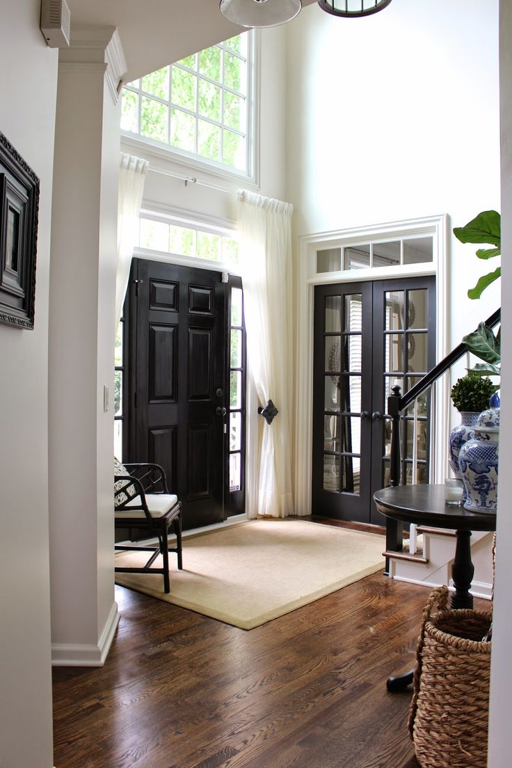 French Doors. There Is Something About Painting Interior Doors Black. I  Just Want To Start With That. It Adds The High Style Factor To A Home,  Instantly!