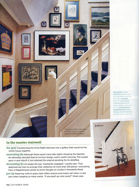 Staircase before/after - domino mag