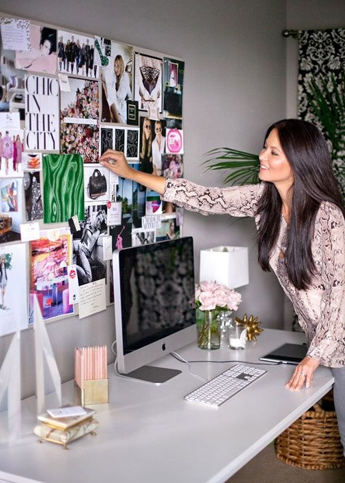 Erica Brechtel - home office vision board