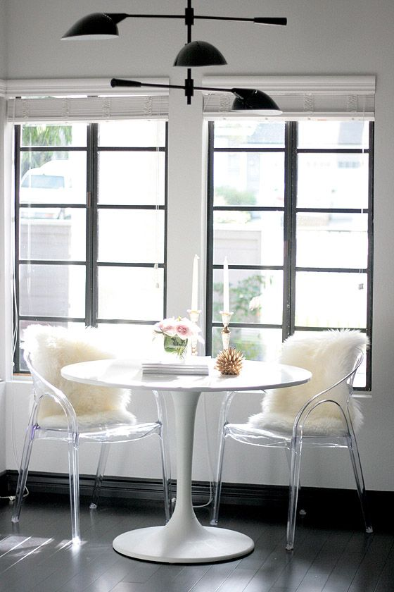 These Acrylic Chairs Are Pretty Cool Too.