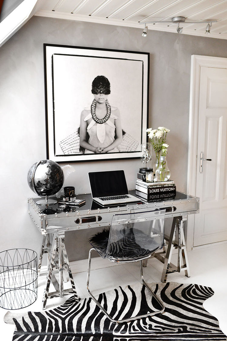 HOME OFFICE | decorating for glamour + posh organization