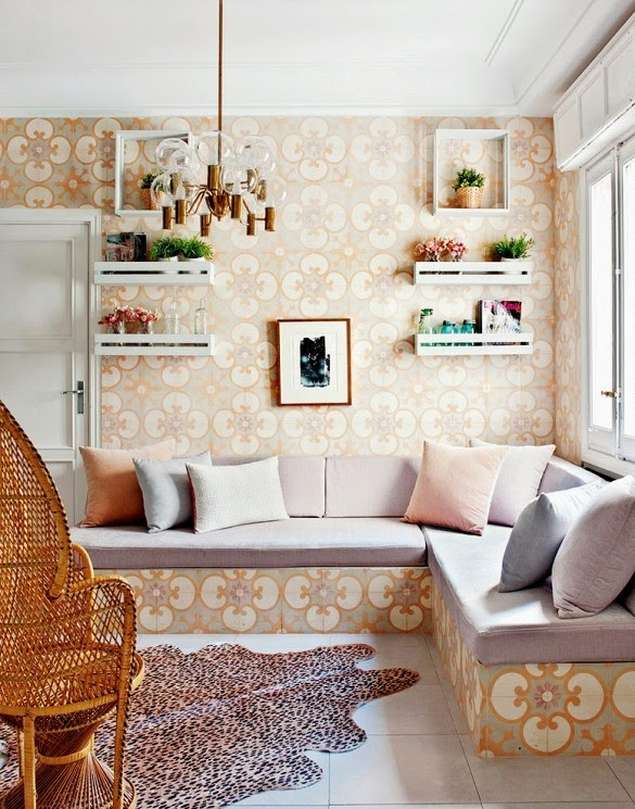 Decorating in madrid living pink home tour the decorista - Zara home decoration ...