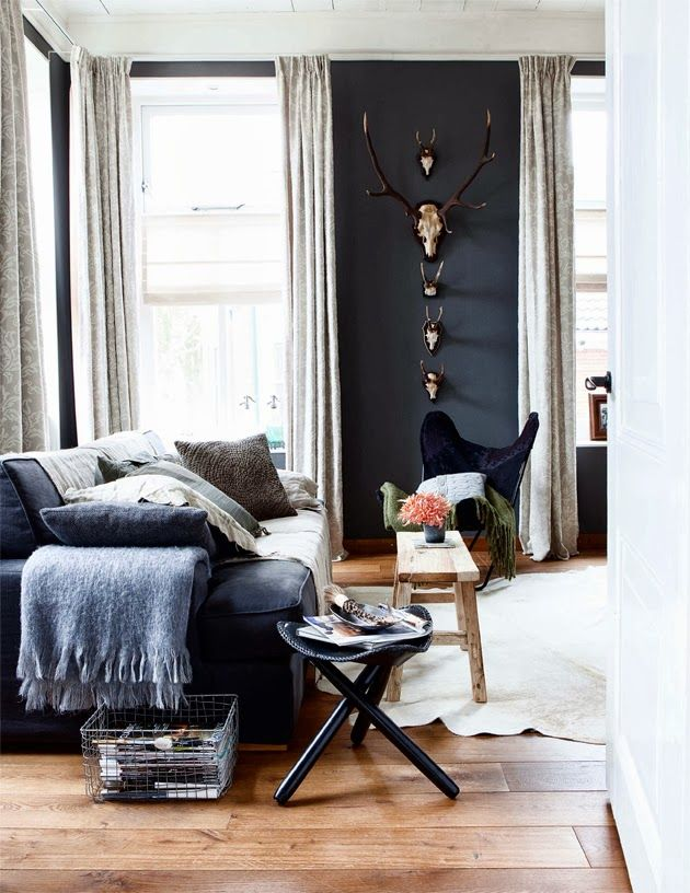 Wood floors taxidermy on the walls cool shaped furnishings...these are the things that make masculine decor so interesting. & Masculine Interiors : 10 inspiring interiors for the guys \u2014 The ...