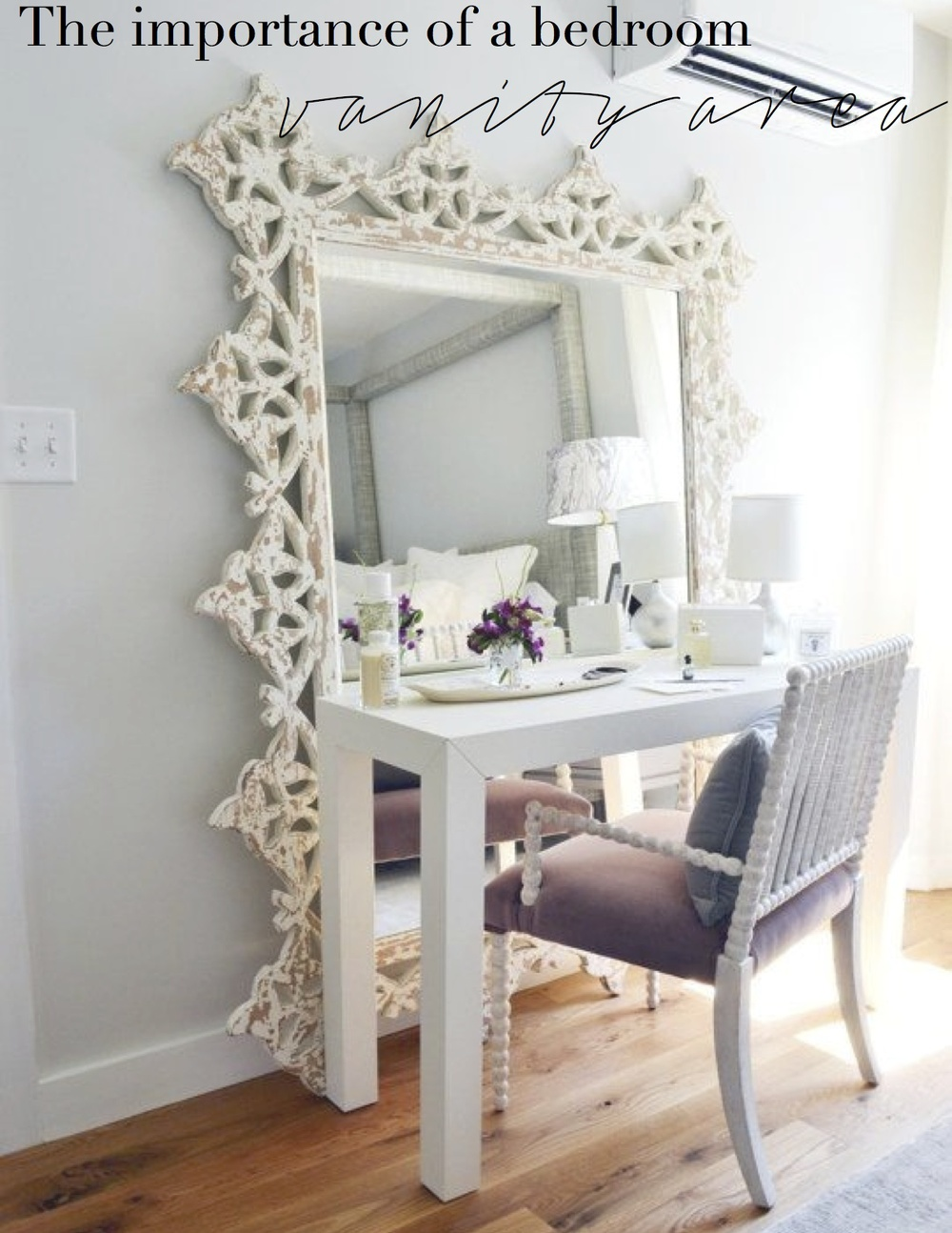 Perfect The Importance Of A Bedroom Vanity Area.