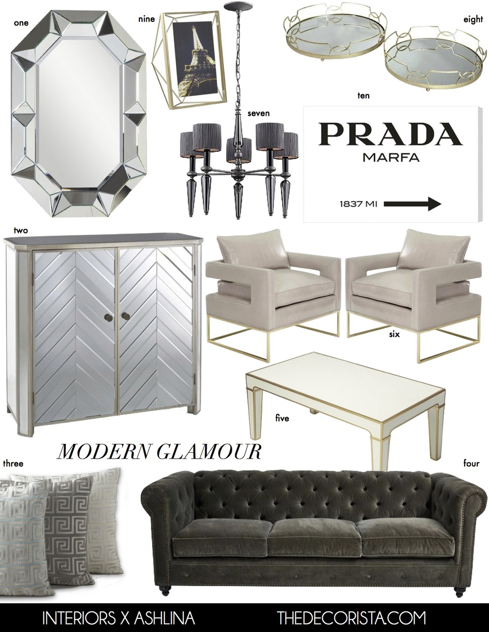 Decorating advice: Elements of modern glamour — The Decorista