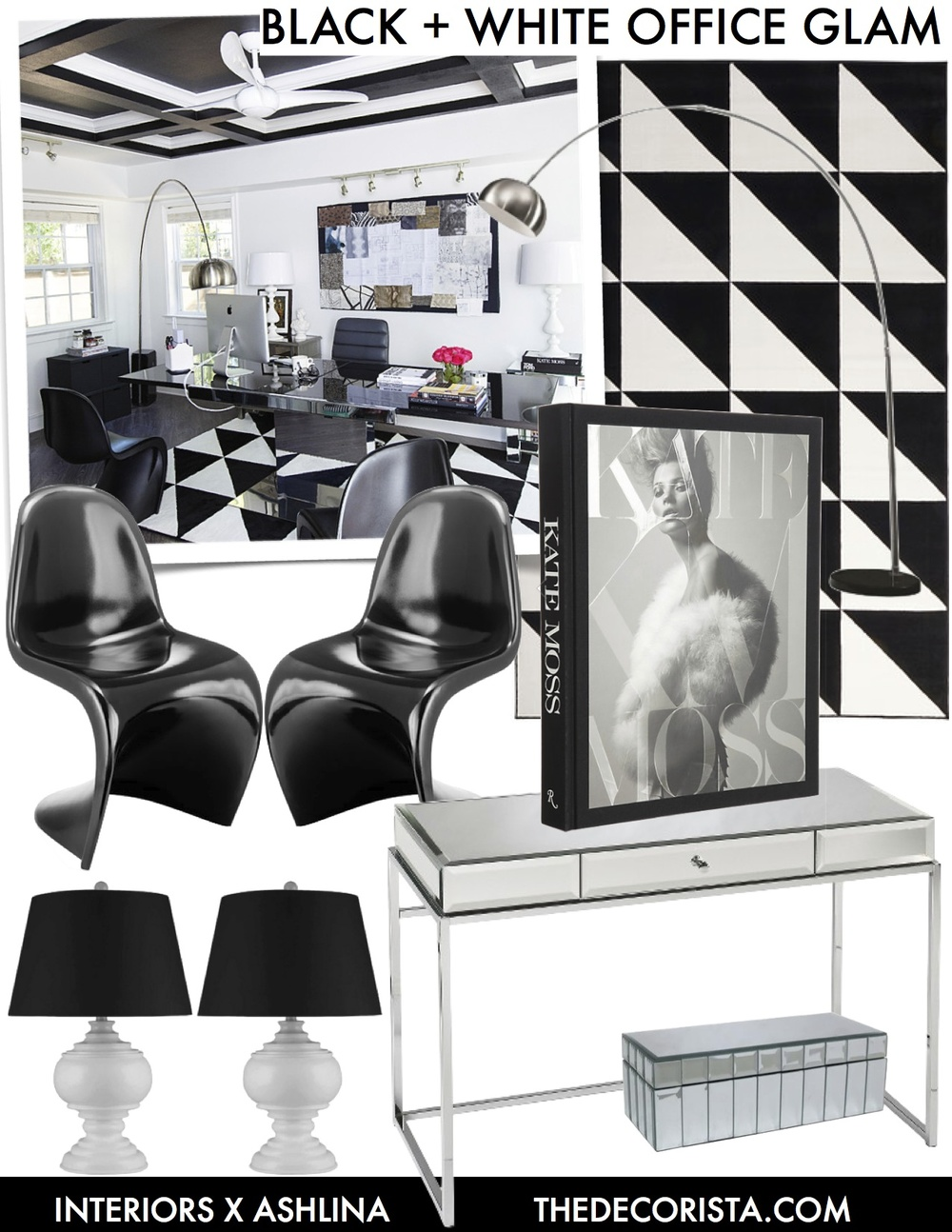 Get the look: Hollywood Glam black and white office space — The ...