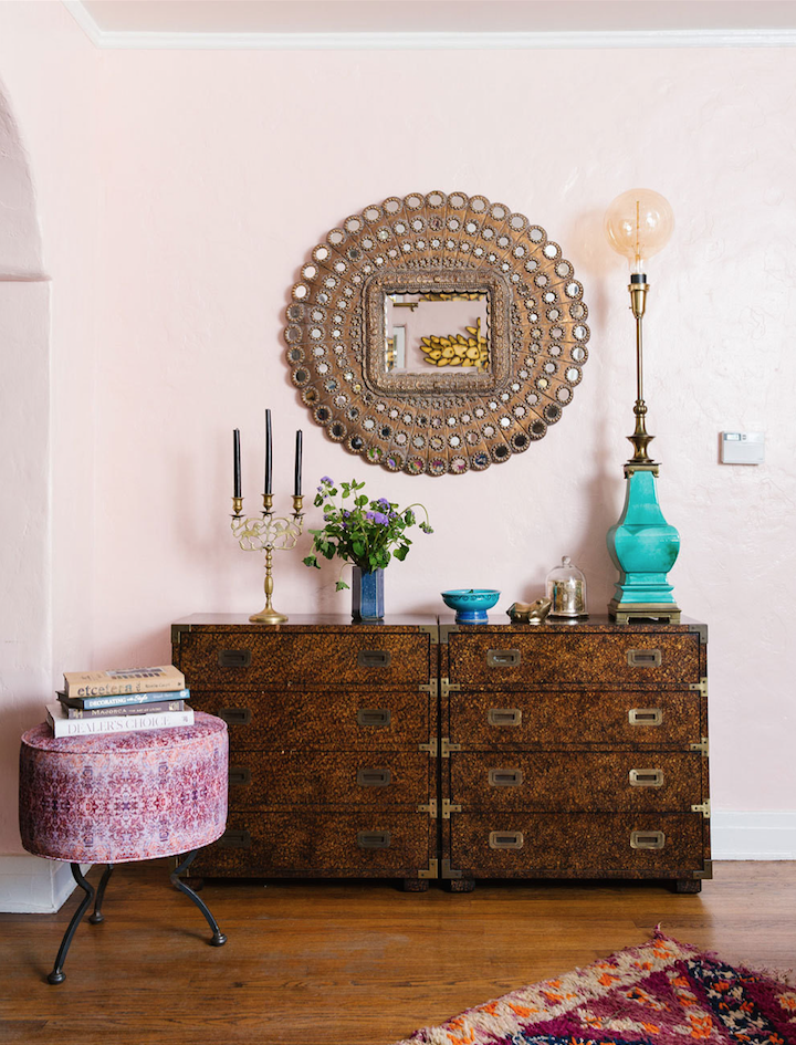 Home tour bohemian glamour in los angeles the decorista for High end thrift stores nyc
