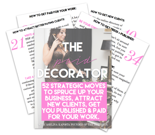 THE PAID DECORATOR E-BOOK