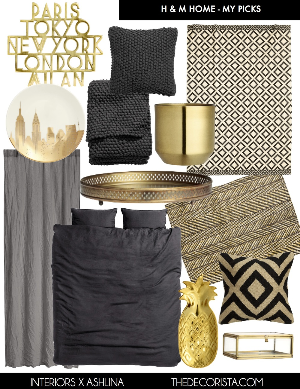 shopping h m home my picks the decorista. Black Bedroom Furniture Sets. Home Design Ideas