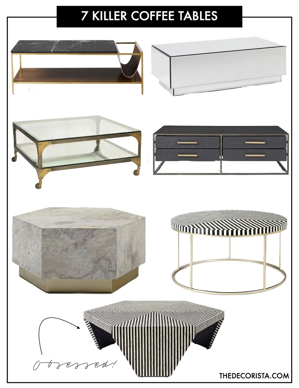 Fab Finds Killer Coffee Tables To Die For The Decorista - Hex coffee table