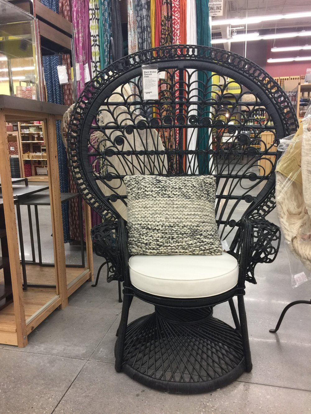 I Went To World Market Over The Weekend And Saw This Black Beauty In  Person. She Is Fabulous. I Am Seriously Contemplating Getting A Black  Peacock Chair ...