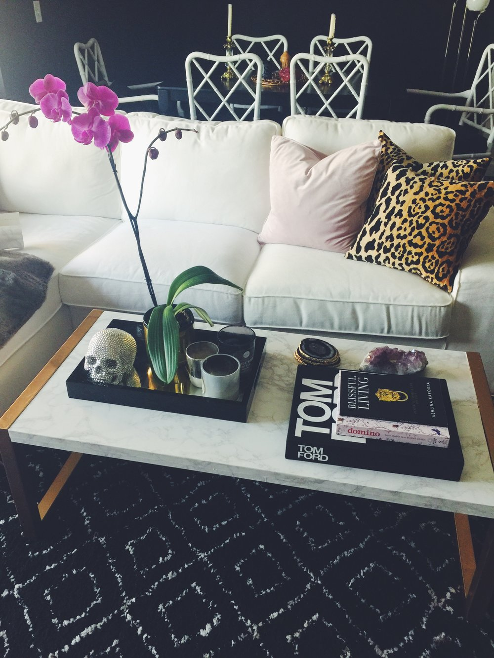 Get the look Marble gold coffee table under 50 The Decorista