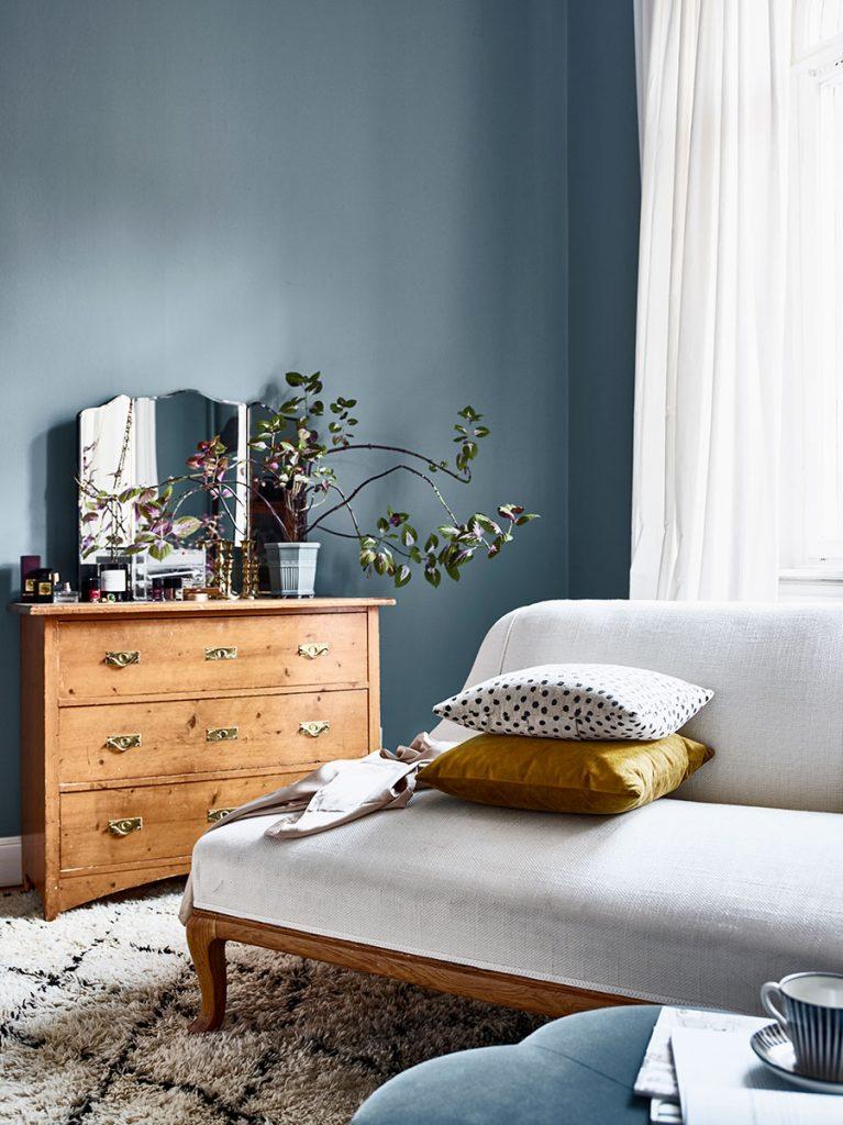 Dormitorio de una diseñadora de interiores