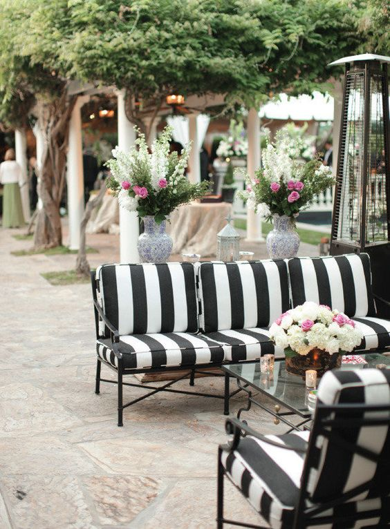 Outdoor Chic Black And White Stripes One Kings Lane