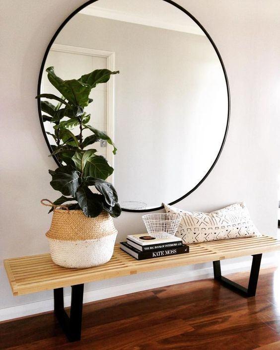 40 round mirror vintage metal ive been looking around for new round mirror my entryway and am thinking nice 40 shopping the perfect the decorista