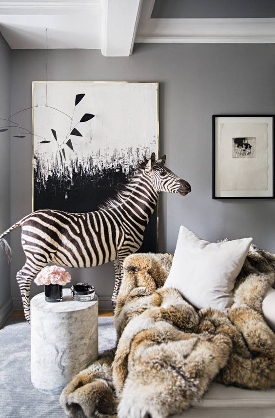 Ryan Korban, One Of My All Time Favorite Designers, Likes Zebra So Much He  Used A Stuffed Zebra Statue In His Apartment. Thatu0027s Seriously Next Level  ...