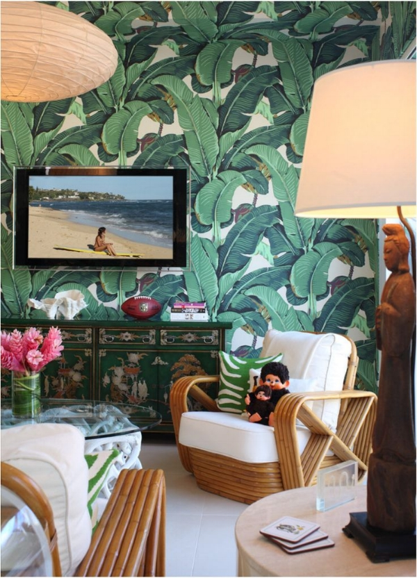 One Of My All Time Favorite Wallpapers Martinique Palm Leaf Wallpaper Is Always Favorites And Brings A Chic Look To Any Room