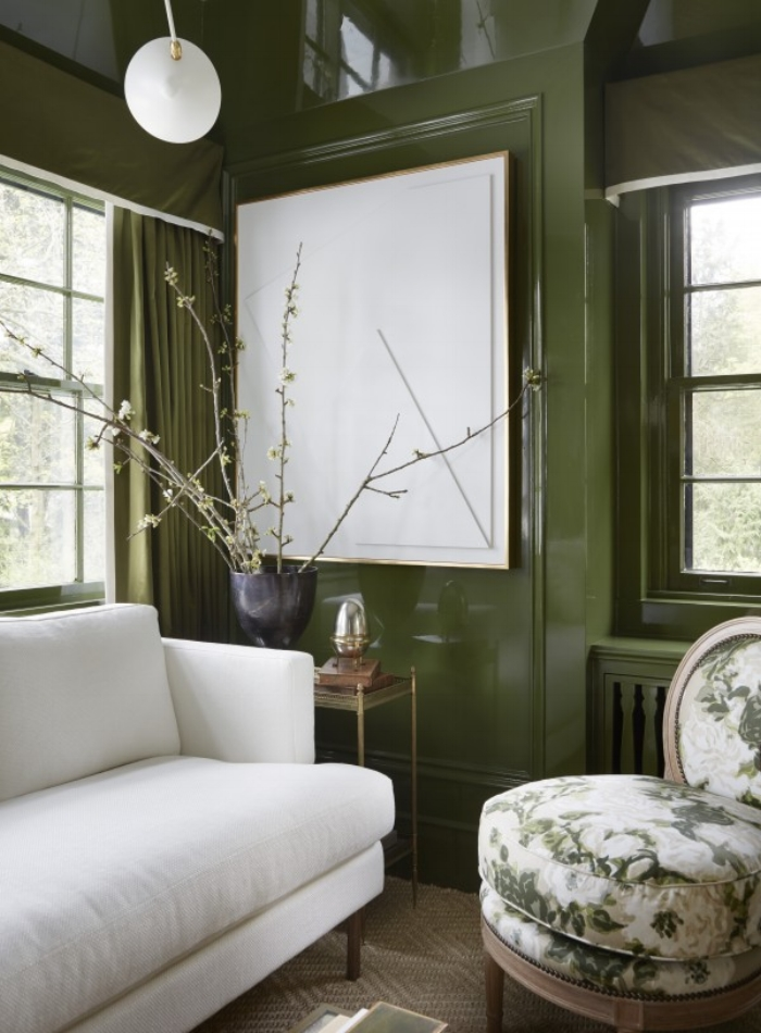 Green Living Room Designs: Glamorous & Green: Decorating With This Seasons Hottest
