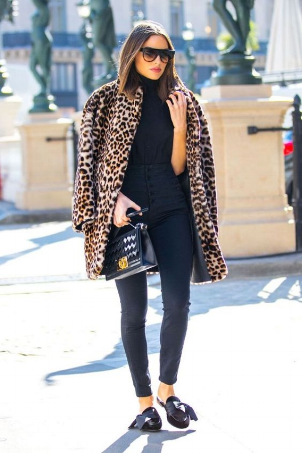 chic leopard coat