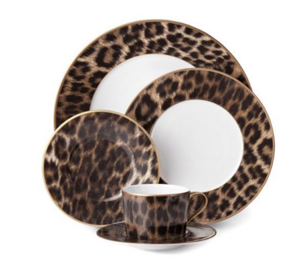 ralph lauren home leopard dinner set