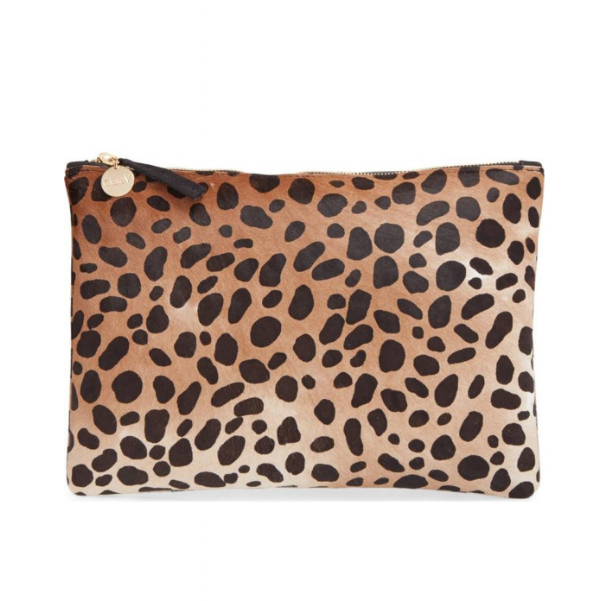 lovely leopard clutch