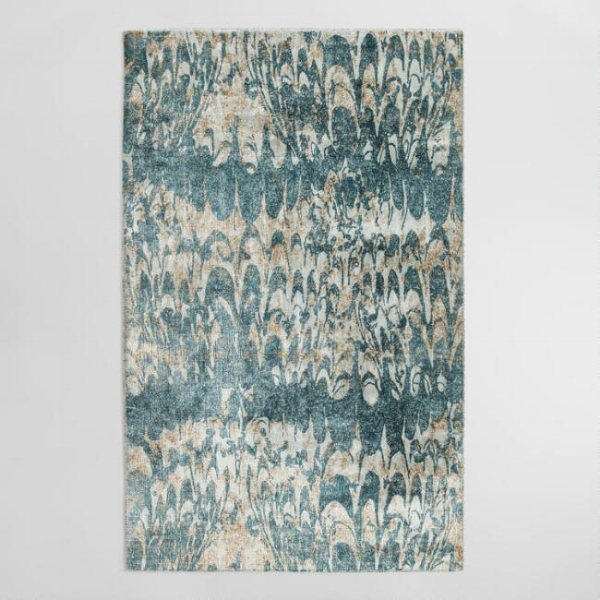 marbled rug