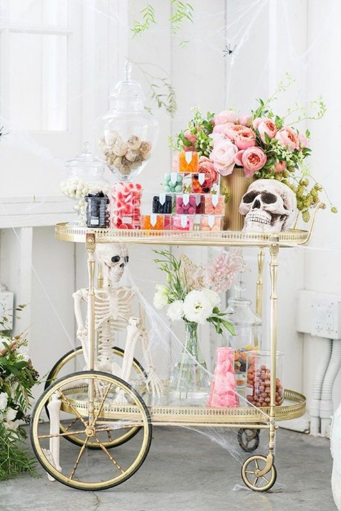 glam bar cart halloween