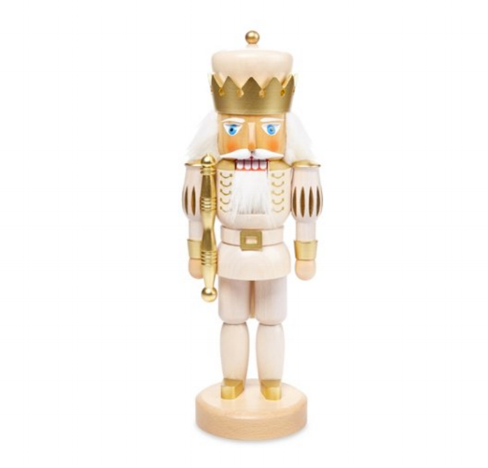 gold and white nutcracker
