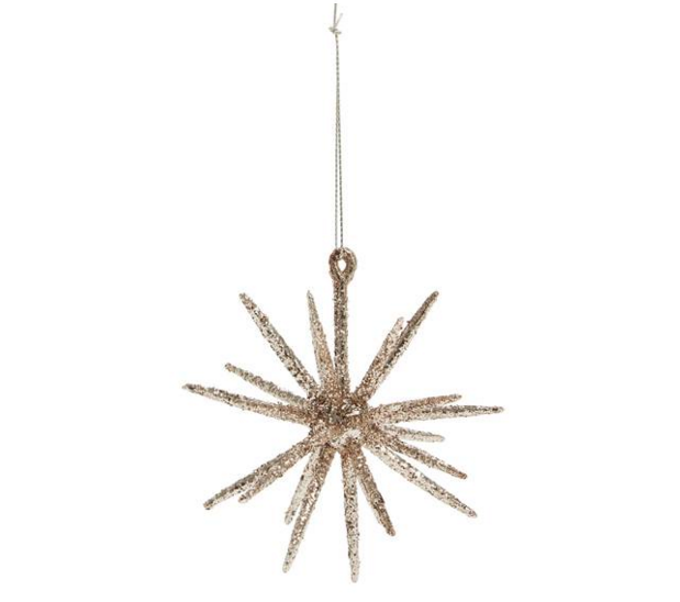 rose gold sputnik ornament