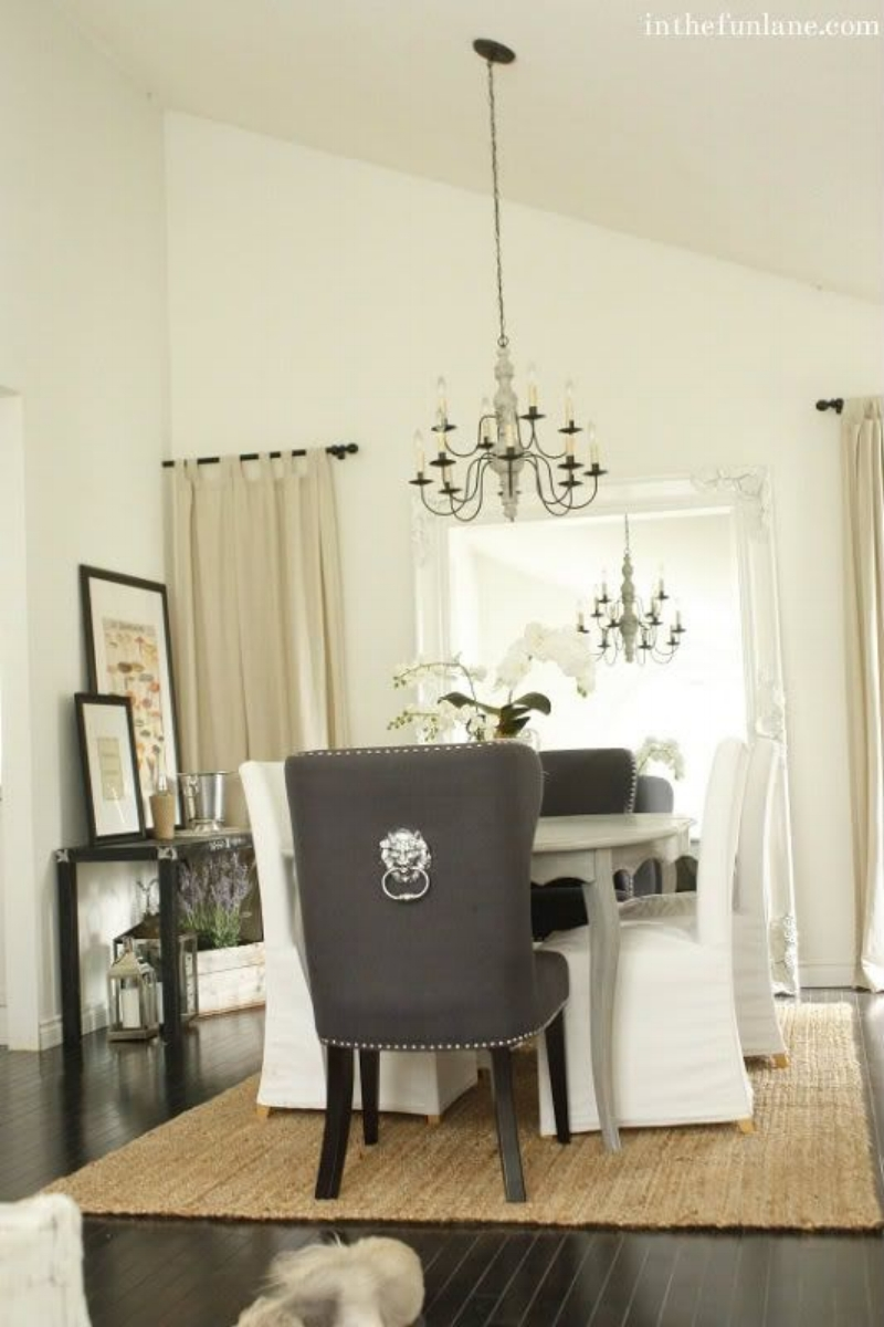 I Just Adore Lion Head Pulls On The Back Of These Chairs