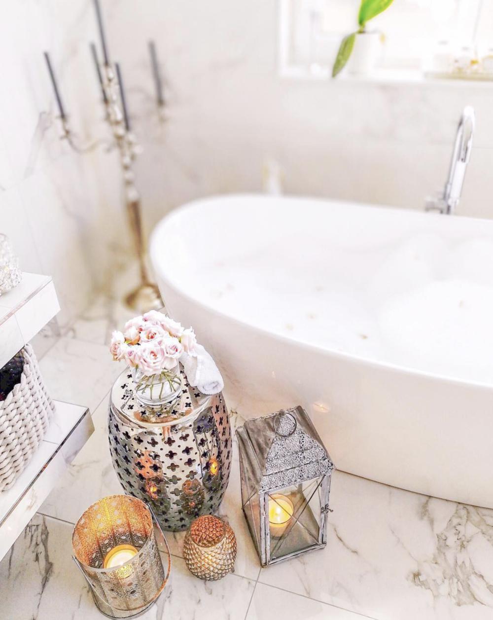 boho glam bath