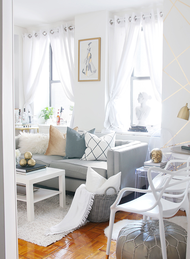 white cozy space