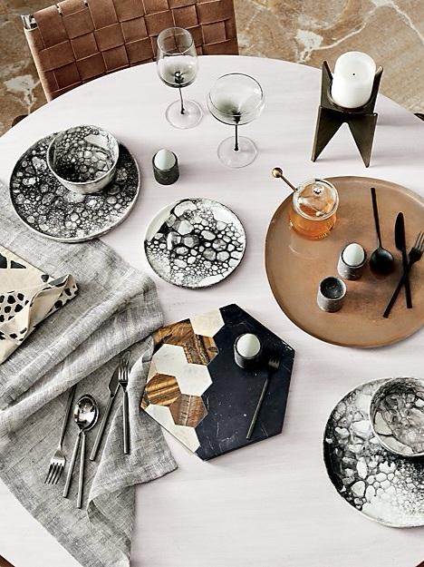 marbled dinnerware