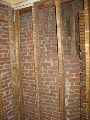 how to clean exposed brick chimney