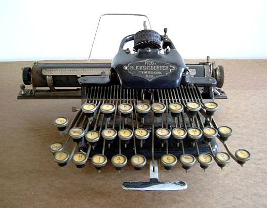 Blickensderfer No. 5 Typewriter (image from www.americanprecision.org)