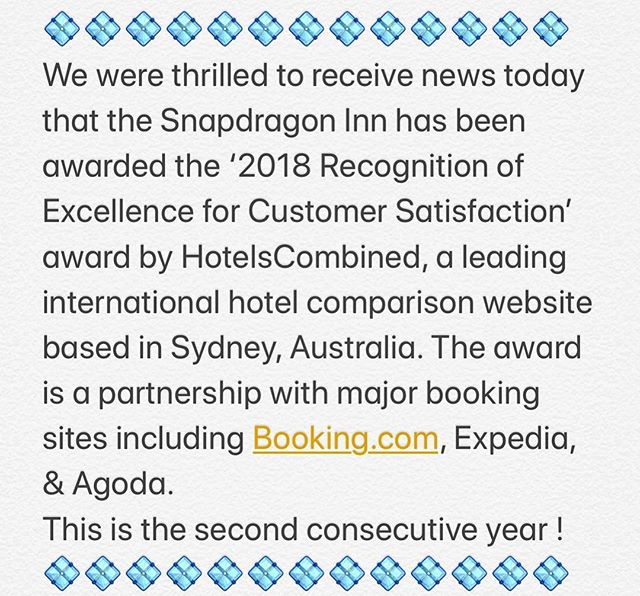 Second year in a row! Awards like this made possible with wonderful guests. . . . #awards #hospitality #hotels #inn #bandb #guests #vacation #holiday #customerservice #tripadvisor #getaway #escape #weekend #weekendvibes #visit #visitvermont #vermont #uppervalley #mountains #lakes #nature #rurallife #countryside #snapdragoninn #bestoftheday