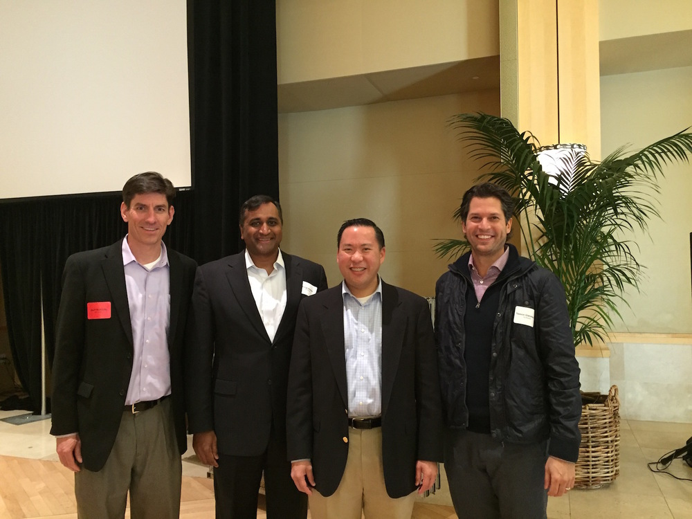 Geoff McKinley, Durga Bobba, Raymond Yue (CCF) and Tassos Gianakakos