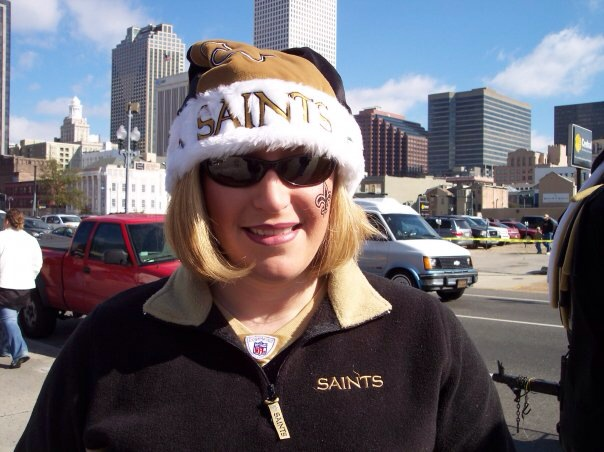 Before a New Orleans Saints game.