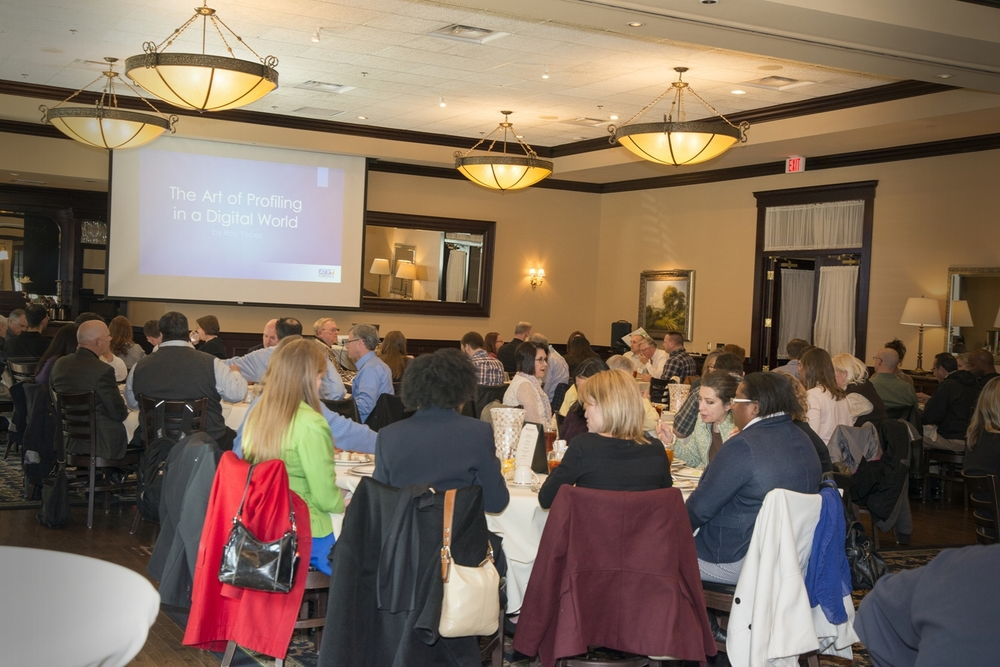Attendees enjoy lunch at the Austin Area Chapter's February luncheon.