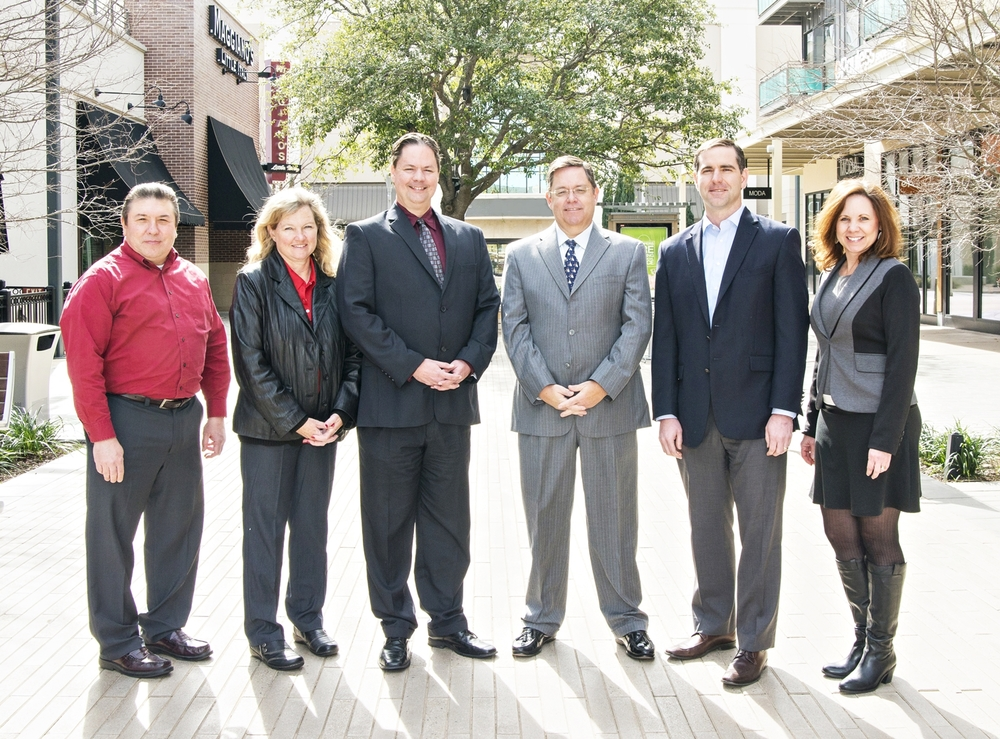 Austin Area Chapter's Board of Directors (L to R): Gilbert Mokry, CFE, Tracey Bohmer, CFE, Andy Prough, CFE, Joe Collins, CFE, Jared Jordan, CFE, Marci Sundbeck, CFE. (Not pictured are Dr. Cecily Raiborn, CFE and John Knox, CFE.)