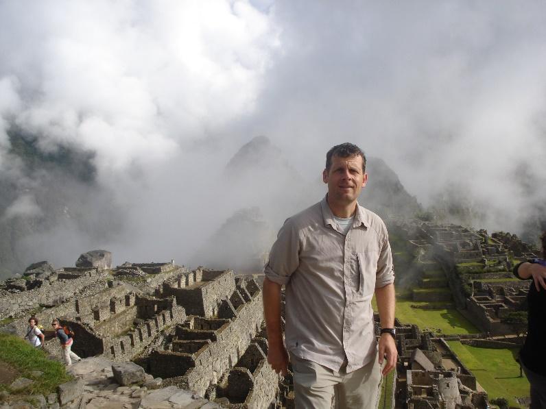 Iain Gallie at Machu Picchu in Peru.
