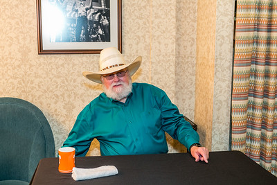 Charlie Daniels backstage before the concert.