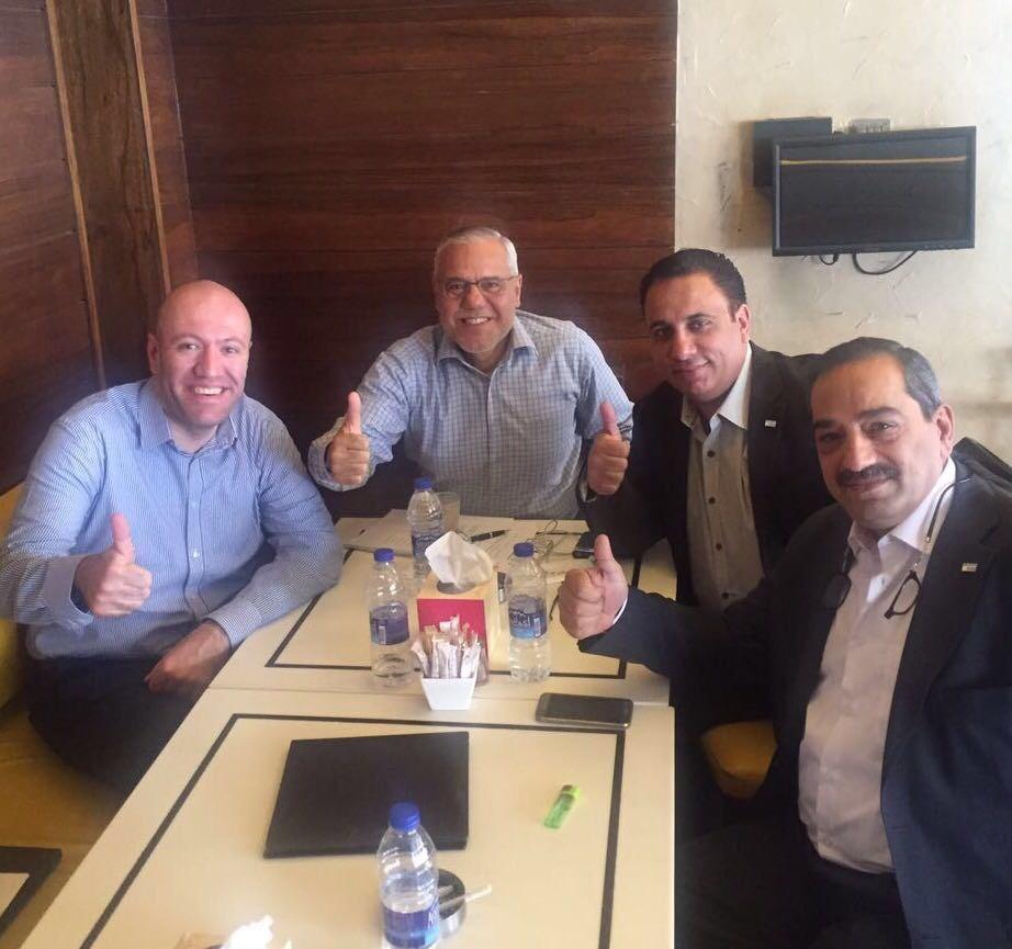Jordan Chapter Leaders. From left to right, Abdallah Alomari, CFE, Hossam El-Shaffei, CFE, Hazem Shahin, CFE, and Adel Ayyoub