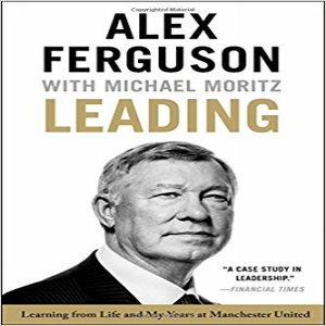 Leading,  Alex Ferguson with Michael Moritz