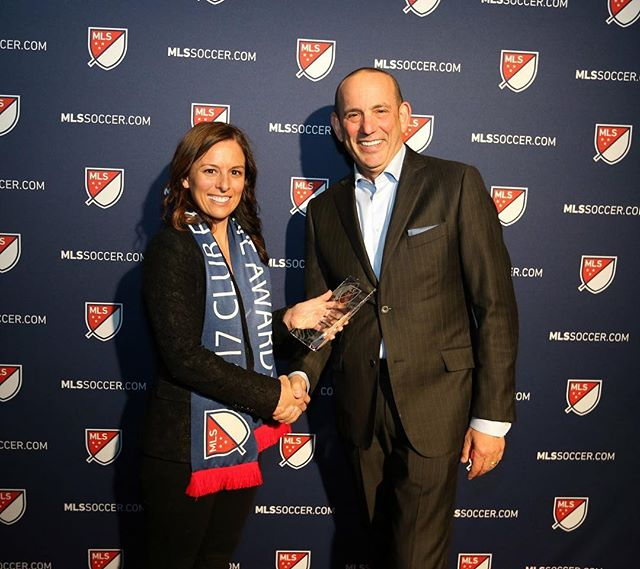 Congratulations to our amazing co-founder, @skaten18, for winning Marketing Executive of the year for MLS Soccer. Her team also won marketing team of the year! It's the first time in MLS history that there was a sweep!! We are so proud of you @skaten18, and are grateful for all of your contributions to the sport of soccer both in the United States and throughout Africa!!! . . #inspiretransformation #cofounder #mls #soccer #marketing #executiveoftheyear #helpingothers #enjoythesport #makingadifference #unitedstates #africa #waytogo #skate