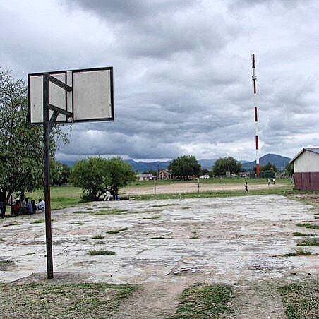 This is our basketball court in Nkomazi (when we still had a functioning hoop). Most of the children we work with do not have shoes, so as you can see we need to raise funds for a new court for them to play on. If you would like to help, please go to: http://www.inspire-transformation.org/sponsor-it/ . . #donate #today #need #new #basketball #court #badly #help #children #play #sports #nonprofit #africa #inspiretransformation