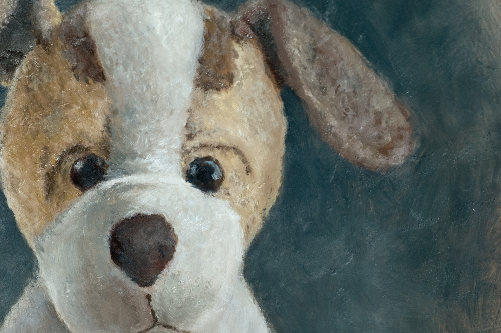 "detail of ""A Portrait of 'Puppy'"" by Julie Doornbos"